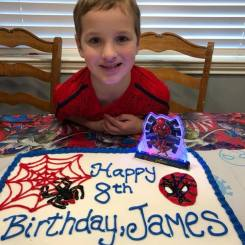 James turns 8